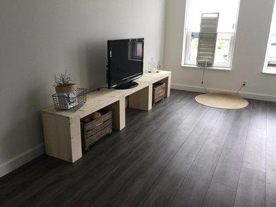 Tv Kast Steigerhout : Steigerhouten tv meubel met open vakken zwaagstrameubels